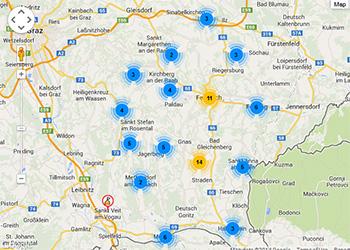 Wanderwege und Karteninformationssystem